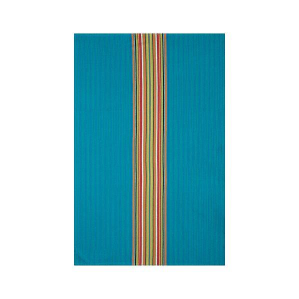 Salsa Dos Turquoise Dishtowel