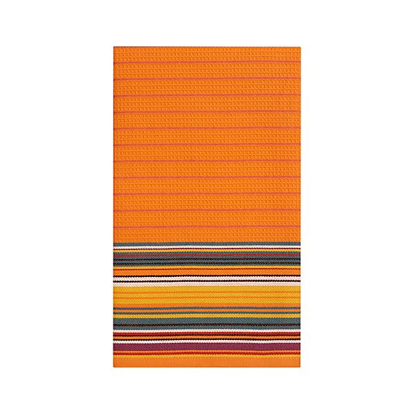 Salsa Stripe Orange Dishtowel