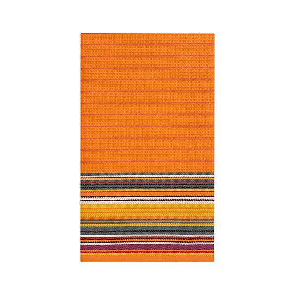 Salsa Stripe Orange Dishtowel