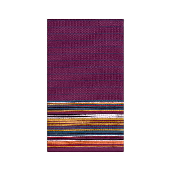 Salsa Stripe Purple Dishtowel