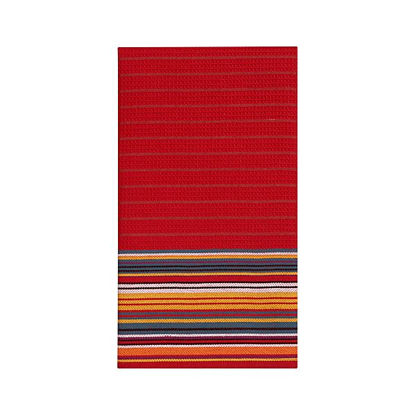 Salsa Stripe Red Dishtowel
