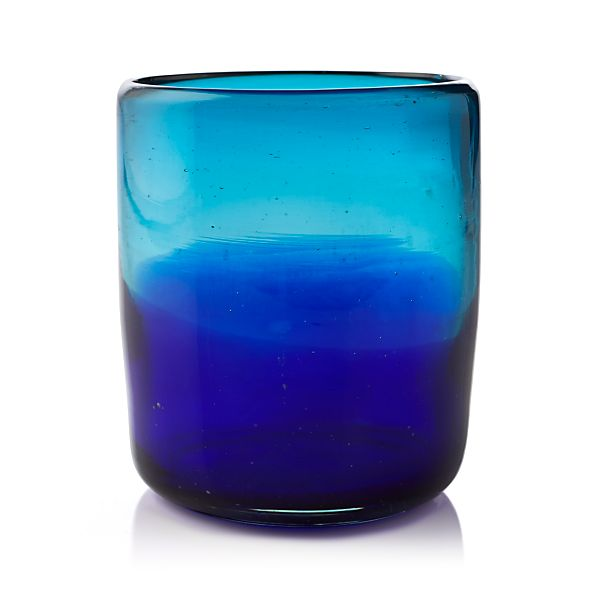 Salud Azul Short Drink Glass