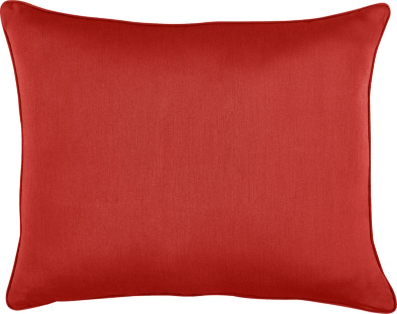 Spicy caliente wraps the optional back pillow for Sanibel Chaise Lounge.<br /><br /><NEWTAG/><ul><li>Fade- and mildew-resistant Sunbrella acrylic</li><li>Recycled polyester fill</li><li>Spot clean</li><li>Made in USA</li></ul>