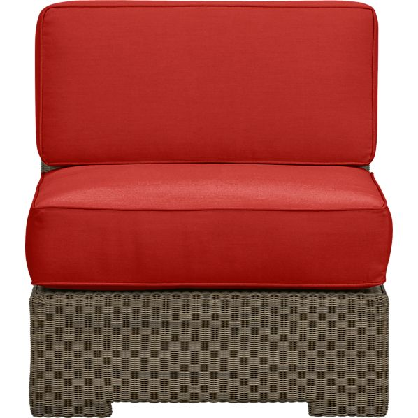 Sanibel Modular Armless Chair with Sunbrella® Caliente Cushions