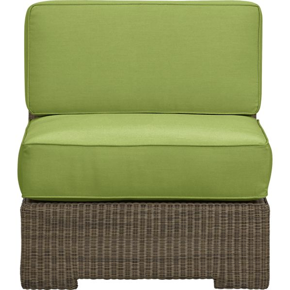 Sanibel Modular Armless Chair with Sunbrella® Kiwi Cushions