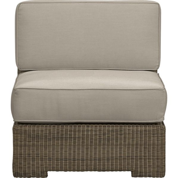 Sanibel Modular Armless Chair with Sunbrella® Stone Cushions