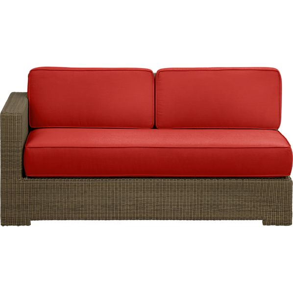 Sanibel Modular Left Arm Loveseat with Sunbrella® Caliente Cushions