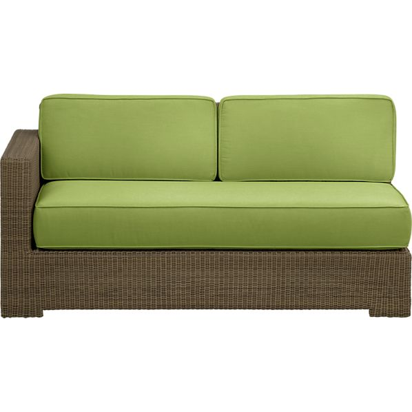 Sanibel Modular Left Arm Loveseat with Sunbrella® Kiwi Cushions