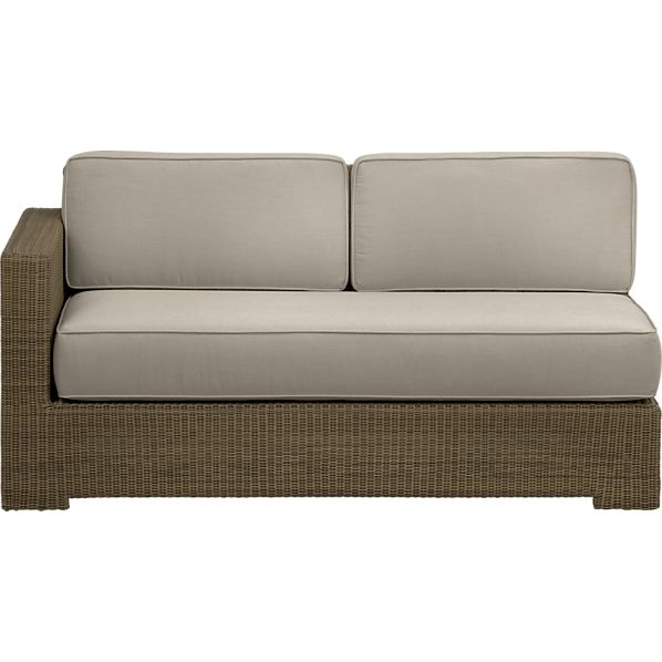 Sanibel Modular Left Arm Loveseat with Sunbrella ® Stone Cushions
