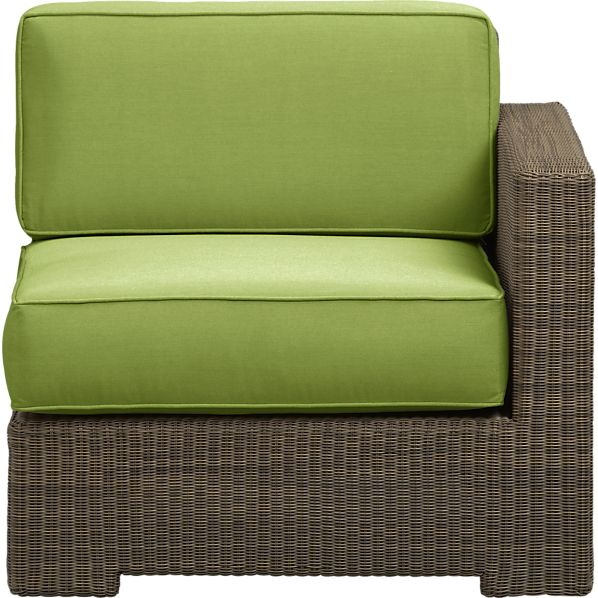 Sanibel Modular Right Arm Chair with Sunbrella® Kiwi Cushions