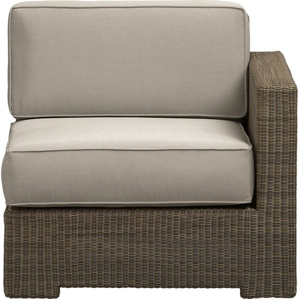 Sanibel Modular Right Arm Chair with Sunbrella® Stone Cushions
