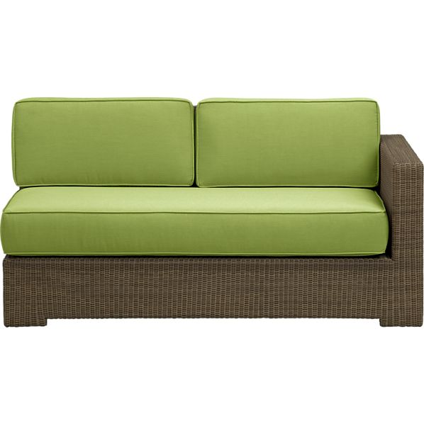 Sanibel Modular Right Arm Loveseat with Sunbrella® Kiwi Cushions