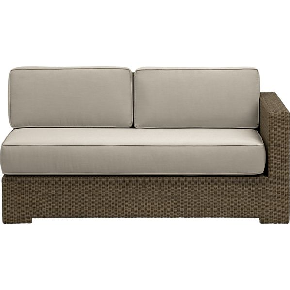 Sanibel Modular Right Arm Loveseat with Sunbrella® Stone Cushions
