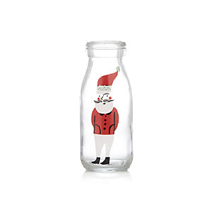 Santa's Milk Glass