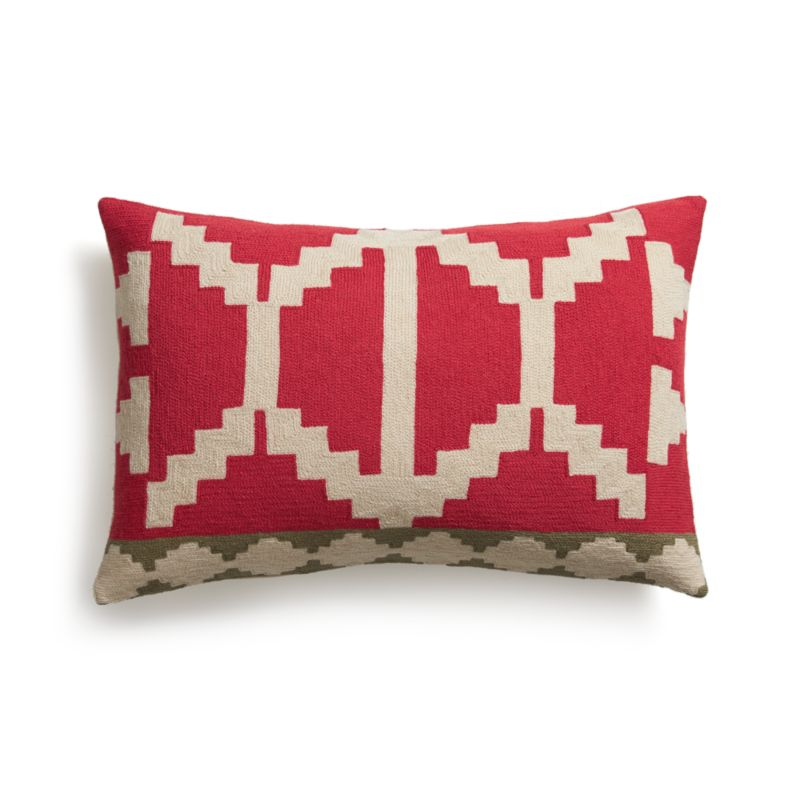 "Santo 24""x16"" Pillow with Feather-Down Insert"