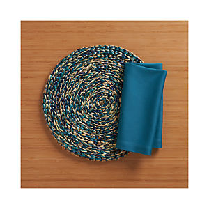 Sarasota Placemat and Fete Corsair Cotton Napkin