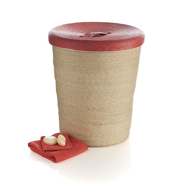 Sarinana Hamper with Coral Lid