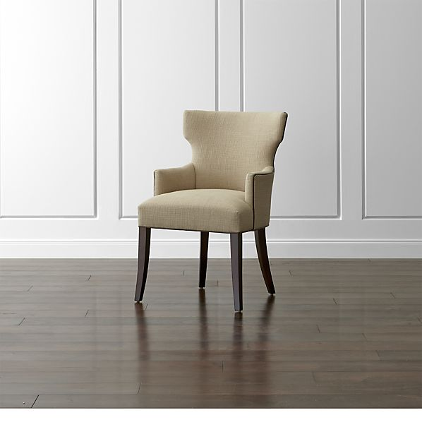 Sasha Dining Arm Chair with Leather Welt