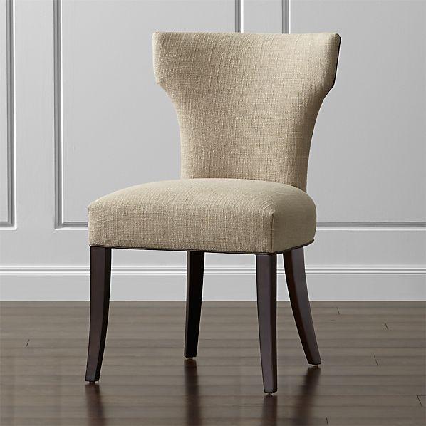 Sasha Side Chair with Leather Welt