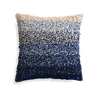 "Sassafras Blue 20"" Pillow with Feather Insert"