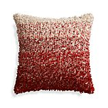 "Sassafras Red 20"" Pillow with Down-Alternative Insert"