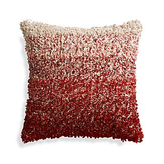 "Sassafras Red 20"" Pillow with Feather Insert"