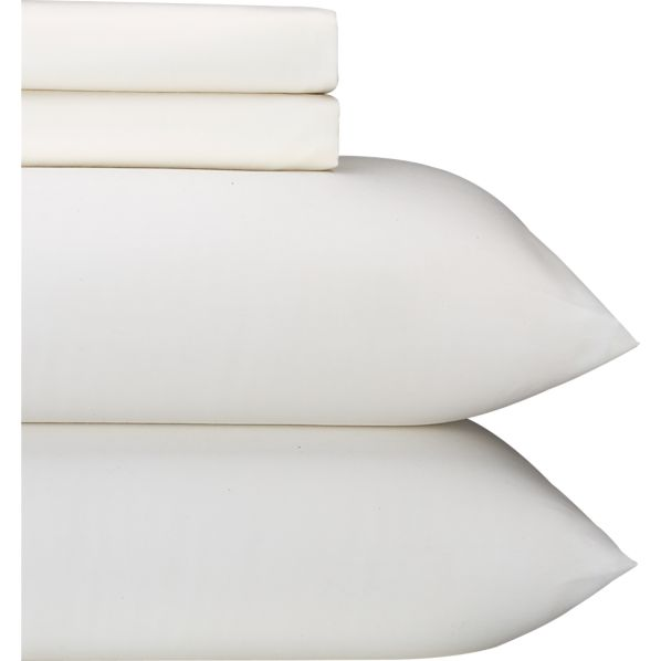 Sateen Ivory King Sheet Set