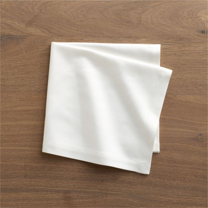 "Rayon/cotton blend sateen napkin complements casual and formal dining in versatile solids. Napkin is tailor finished with 1"" hem.<br /><br /><NEWTAG/><ul><li>57% rayon and 43% cotton</li><li>Machine wash, tumble dry; warm iron as needed</li><li>Made in India</li></ul>"
