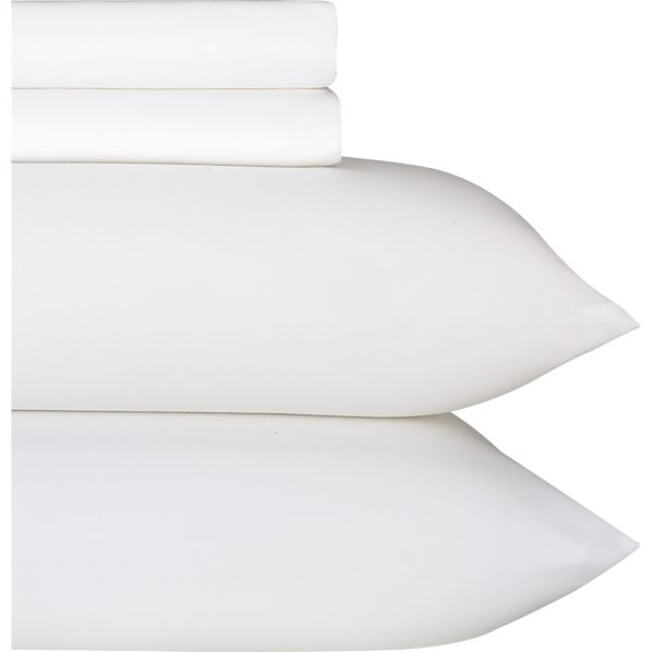 Sateen White Queen Sheet Set