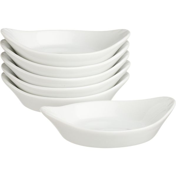 Set of 6 Sauce Dishes with Handles