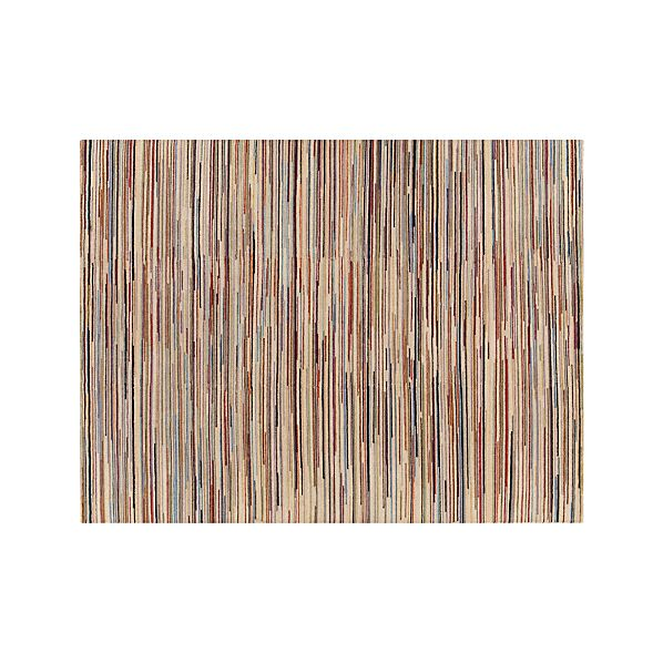 Savoy Cream Striped Wool 10'x14' Rug