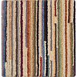 "Savoy Cream Striped Wool 12"" sq. Rug Swatch"
