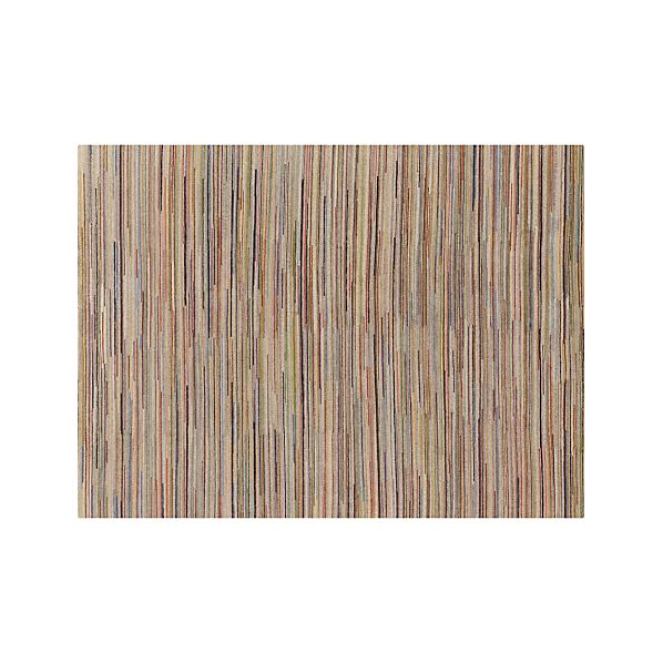 Savoy Tweed Striped Wool 9 X12 Rug Crate And Barrel