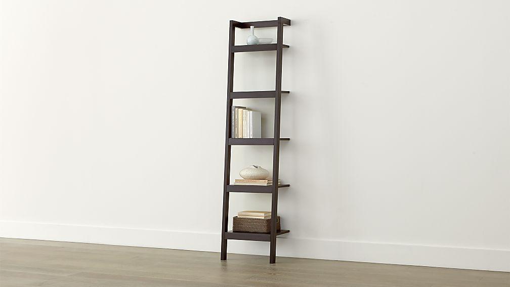 """Sawyer Mocha Leaning 18"""" Bookcase"""