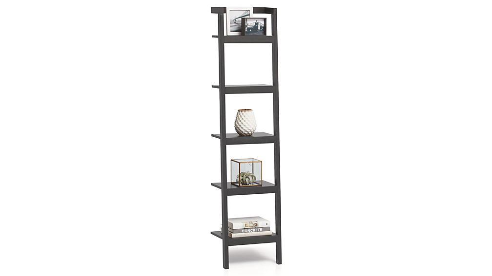 "Sawyer Grey Leaning 18"" Bookcase"