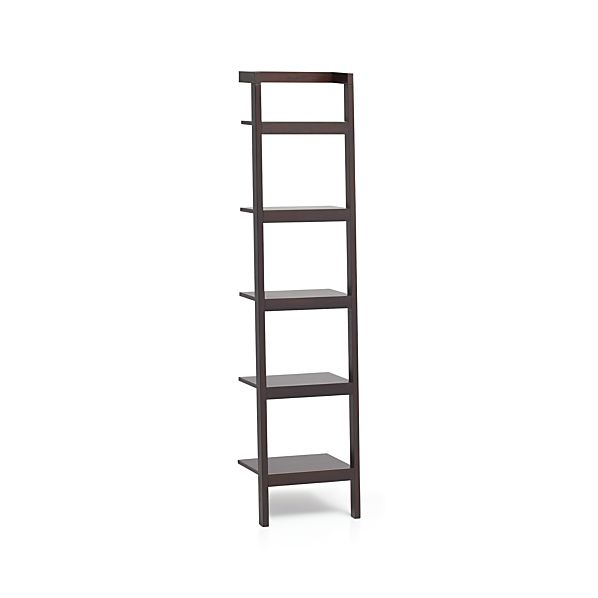 Sawyer Mocha Leaning 18 Quot Bookcase In Bookcases Crate And