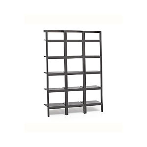 "Sawyer Grey Leaning 18"" Bookcases Set of Three"