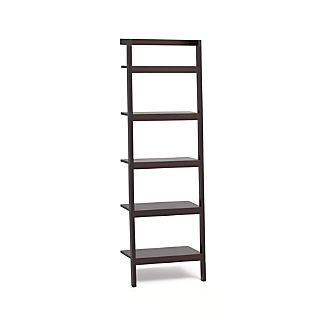 "Sawyer Mocha Leaning 25"" Bookcase."