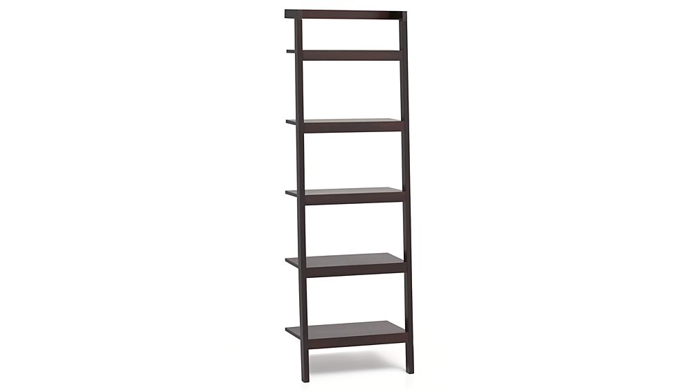 "Sawyer Mocha Leaning 24.5"" Bookcase."
