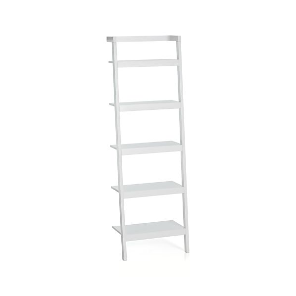 Sawyer White Leaning 24 5 Bookcase In Bookcases Crate