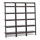 """Set of 3 Sawyer Mocha Leaning 24.5"""" Bookcases."""