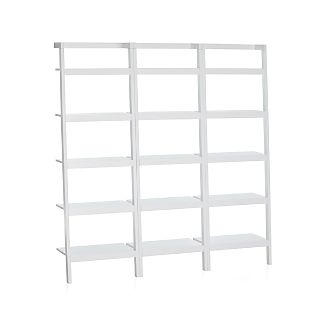 "Sawyer White Leaning 25"" Bookcases Set of Three"