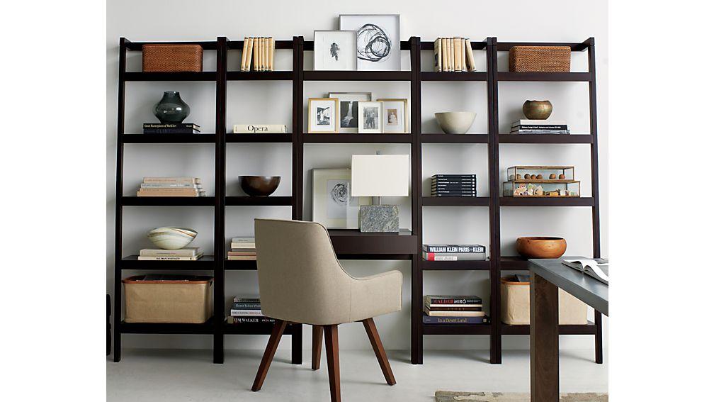 """Sawyer Mocha Leaning 24.5"""" Bookcase"""