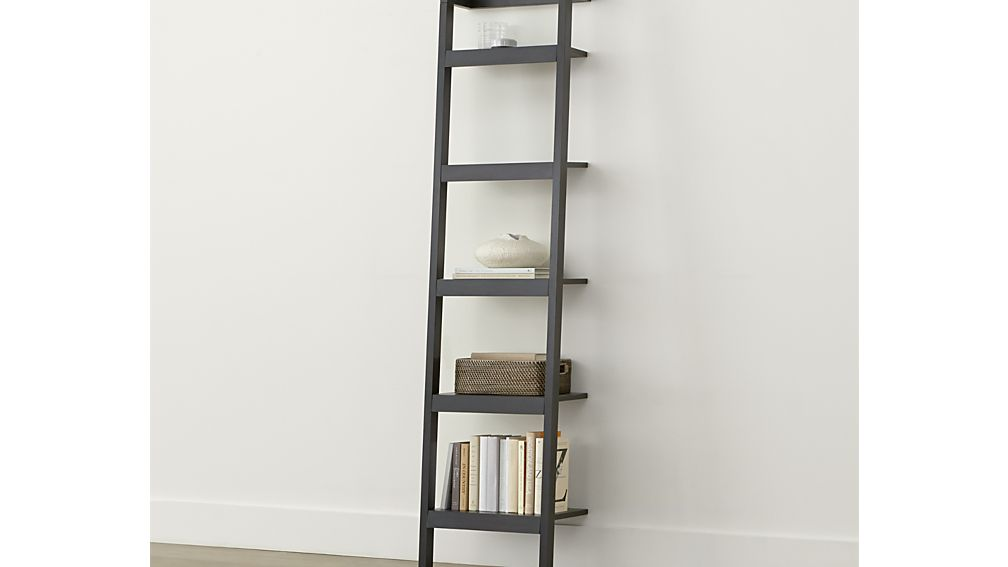 "Sawyer Grey Leaning 18"" Bookcase"
