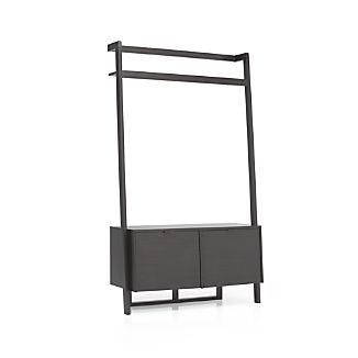 Sawyer Grey Leaning Media Stand