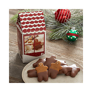 Saxon Milk Chocolate Dipped Mini Gingerbread Men Cookies in Chalet Box