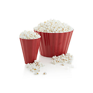 Scalloped Melamine Popcorn Cup and Tub