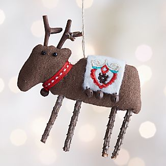 Scandinavian Reindeer Ornament