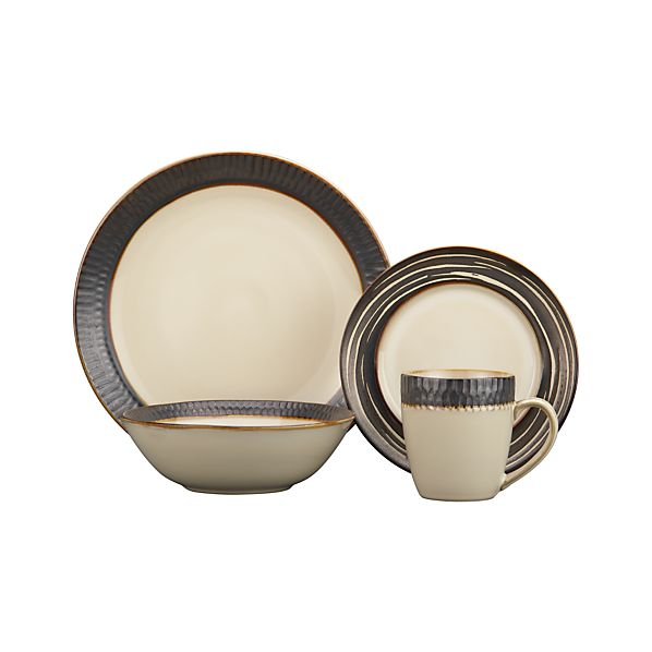 Scavo 4-Piece Place Setting with Swirl Salad Plate