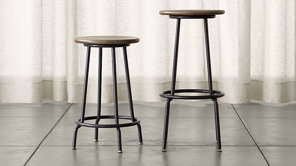 Scholar Backless Bar Stools Crate And Barrel